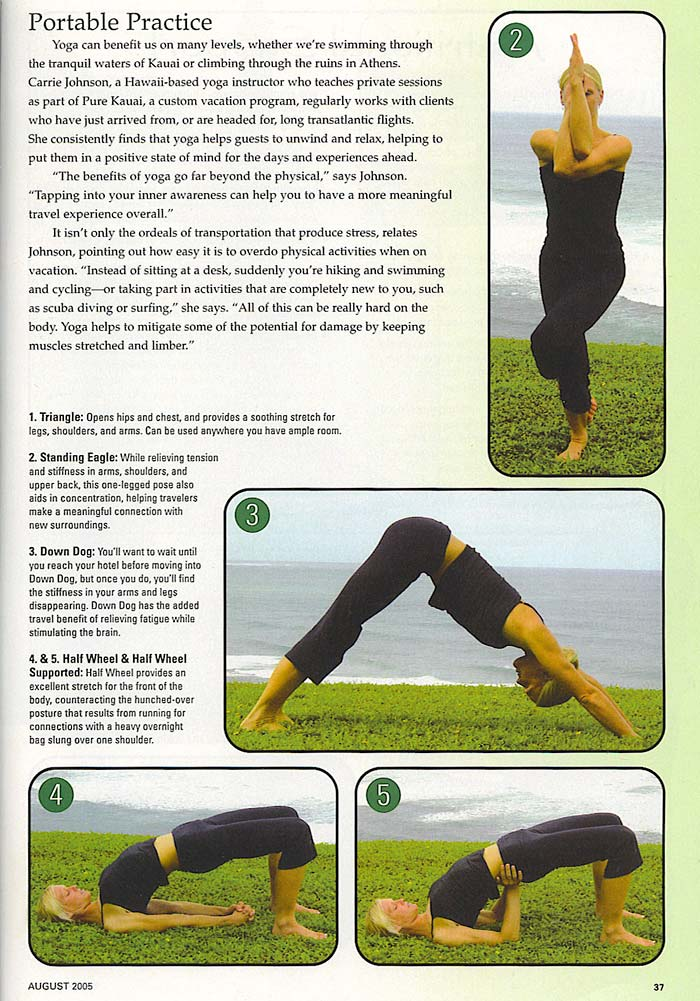 YOPA in Fit Yoga Magazine, August 2005 - Pilates yoga backpack.