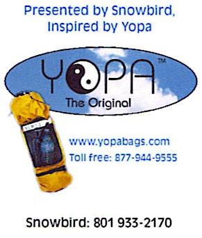 YOPA the original yoga backpack, pilates crossover backpack at Snowbird Utah